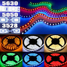 5/10/15M Bande Ruban LED Strip Flexible RGB 3528 5050 5630 SMD Etanche Fête Noël