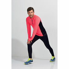 SOL'S Long Sleeve Zip Neck Running Lightweight Activity Sports Top Breathable