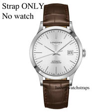 LEATHER  WATCH STRAP w. BUCKLE FOR LONGINES WATCHES 18mm 20mm 22mm BLACK BROWN
