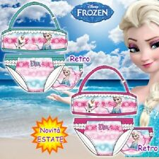 Costume da Bagno Frozen Bambina.Bikini Estate.Elsa & Olaf.Disney.Novita' Estate