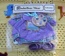 Muffy Vanderbear Artist Outfit Gibearny Purple Smock - Paint Palette - Shoes NEW