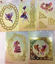 Brass embossing stencil / embroidery template Franciens Faeries Marianne