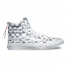 VANS SCARPE SK8-HI SLIM ZIP BARON VON FANCY WHITE/BLACK