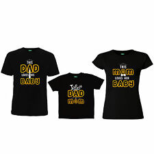 "DAD-SON-MOM Family Tshirts - "" I LOVE DAD&MOM "" Family Tshirts"