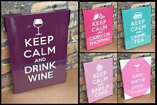 Keep Calm Style Canvas Shabby Chic Vintage Stretched Canvas Wall Art Picture