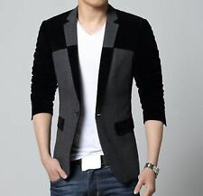 Men Slim fit Blazer Coat Jacket Suit + 1 coat cover