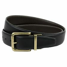 Mens Reversible Casual Jeans Genuine Leather Belt, Made in England, 3.5cm strap
