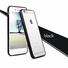 Soft TPU Black Border Transparent Hard Cover Case for Apple iPhone 5s/6s/6 Plus