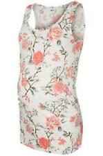 Maternity Floral Printed Sleeveless Jersey Tank Top Pregnancy Summer Pretty Cool