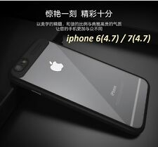 Fashion Soft Silicon Frame Hard Transparent Back Case Cover for iphone 7 / 6S