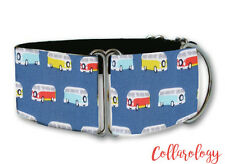 Retro campervans mini dog collar by Collarology