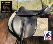 "New Flexi Fit, Flexi Tree Easytrek Treeless Leather Horse saddle 15"" 16"" 17"" 18"""
