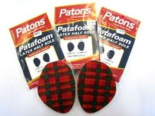 Patons LATEX HALF SOLE Insole Cushioned for Comfort sizes small/medium/large 218