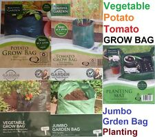 VEG TOMATO POTATO GROWING BAG,GARDEN WASTE RUBBISH LAWN JUMBO STRONG SACK MAT UK