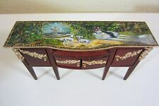 Dollhouse Original OOAK Rococo Dogs Fountain Buffet Painted Miniature  By IM