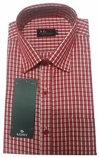 Gents / Mens Quality Formal Shirt (Red Checked) 28