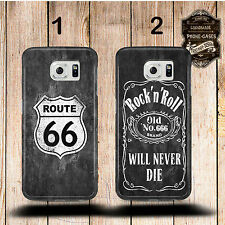 "Cover cellulare,Custodia cellulare per Samsung Galaxy ""Route 66/Rock´n´Rotolo"