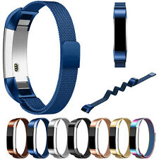 Milanese Magnetic Loop Stainless Steel Strap Watch Band For Fitbit Alta HR Smart