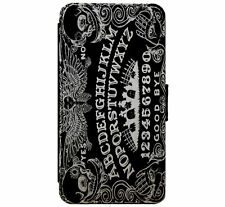 Ouija Board Goth Emo Metal Leather Flip Phone case wallet for iPhone & Samsung
