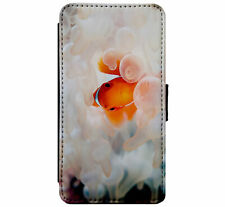 Coral Reef Clown Fish Leather Flip Phone Case Cover for iPhone & Samsung D24