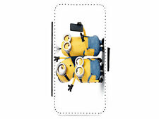 Minions Selfie Leather Flip Phone Case Cover for iPhone & Samsung D3