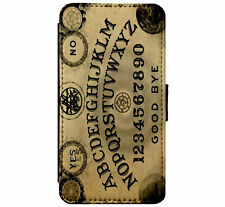 Ouija Board Goth Emo MetaI Leather Flip Phone case wallet for iPhone & Samsung