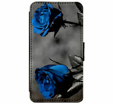 Gothic Emo Rose Goth Leather Flip Phone case wallet for iPhone & Samsung