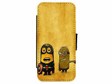 MINIONS Inspired Leather Flip Phone Case Cover for iPhone & Samsung D16
