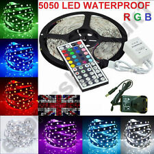 étanche 5050/3528 RGB SMD 150/300/600 LED 5M/10M LED Bande Flexible Light UK