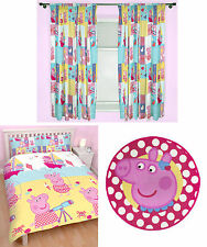 "Peppa Pig Nautical Double Duvet Bedding Set 72"" Drop Curtains Rug - 3 Choices"