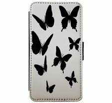 Butterfly Silhouette Design Leather Flip Phone Case Cover for iPhone Samsung D5