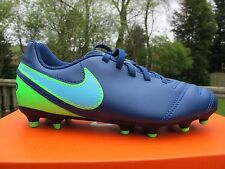 NIKE  TIEMPO RIO III FG  JNR Football Boots  2    5 UK COSTAL BLUE  moulded firm