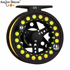 1/2 3/4 5/6 7/8WT Fly Fishing Reel and Line Combo Aluminum Reel Backing Leader