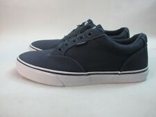 Mens Vans Winston Low Canvas Shoes Navy White Lace Up Trainers