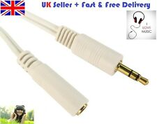 GOLD Male to Female 3.5mm Stereo Jack Plug Extension Cable Earphone Headphone HQ