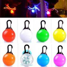 Dog Cat Safety LED Clip Buckle Night Light High Visible Flashing Bulb Collar