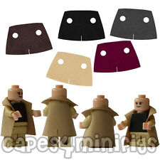 20 x Black Trench Coat Jacket Capes  for Lego Minifigs NEW Pack of 20