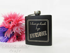 Personalised Awesome Hip flask great for birthdays xmas fathers day etc. HF13