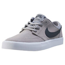 Kids Nike SB Portmore Ii (gs) Suede & Synthetic Grey Shoes Trainers Casual BNIB