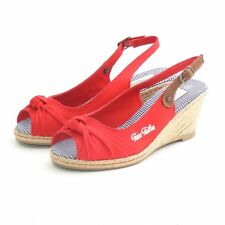Tom Tailor Varese Canvas Sandalette Red *** NICE LOOK *** BEST PRICE *** NEU