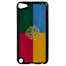 Harry Potter Hogwarts Houses Quotes Plastic Case for iPod 4th 5th 6th Gen D35
