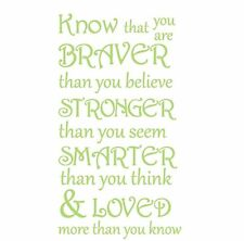 "Classic Winnie the Pooh Wall Decal Quotes "" Know that You Are ..."" Nursery Wall"