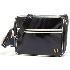 5504S  borsa uomo FRED PERRY multitasche tracolla nero laptop bag man
