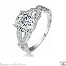 Platinum Plated Party Festive Fashion Wear AAA Zircon Ring For Women