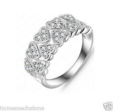 Platinum Plated Party Festive Fashion Wear AAA Zircon Ring For Women R2012-14