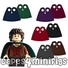 2 CUSTOM Capes for Lego Hobbit Lord of the Rings minifigures 99464 - CAPE ONLY