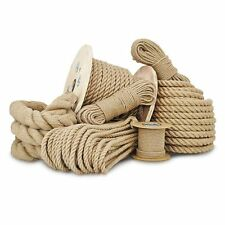 Natural Jute Hessian Rope Cord Braided Twisted Boating Sash Garden Decking 6-50