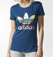 New ADIDAS WOMEN ORIGINALS GRAPHIC TREFOIL T-SHIRT/navy/fashion/holidays top/gym