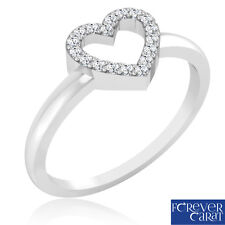 0.09ct Certified Natural Round Diamond Ring 925 Sterling Silver Ring