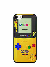 funda carcasa para iphone 4 / 4s 5s 5c 6 7 Pokemon go game boy color Pikachu